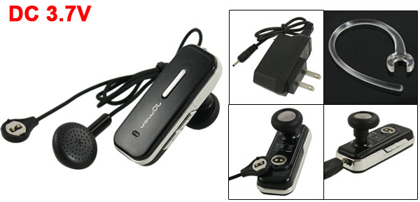 Black Handfree bluetooth Stereo Headset Earphone + Travel Charger