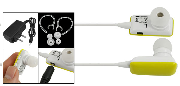 Universal Mobile Phone Handfree Wireless bluetooth Earphone Headset Yellow