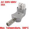 220V-600V 35A Ceramic Metal 2 Terminals Plug for Electric Heater ...