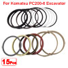 Arm Cylinder Oil Seal Ring Kit for Komatsu PC200-6 Excavator
