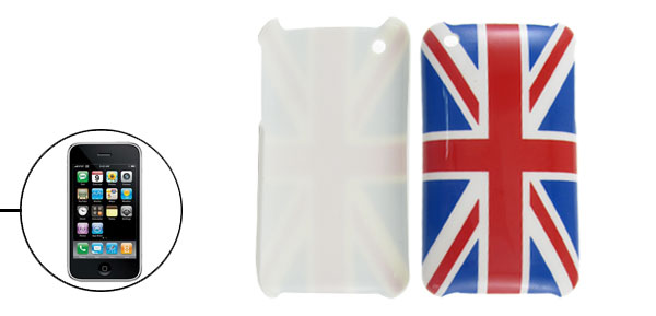 Great Britain Union Jack Flag Printed Plastic Hard Back Case Shell for Apple iPhone 3G 3GS