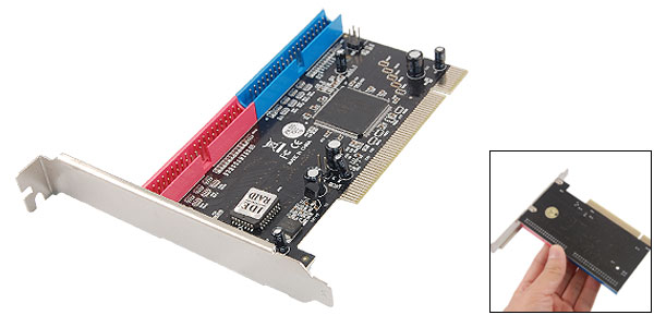 Computer 2 IDE Socket PCI Controller Card Adapter
