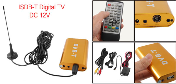 Car TV Remote Controller DVB-T MPEG-2 USB Digital Video Receiver Box w Antenna