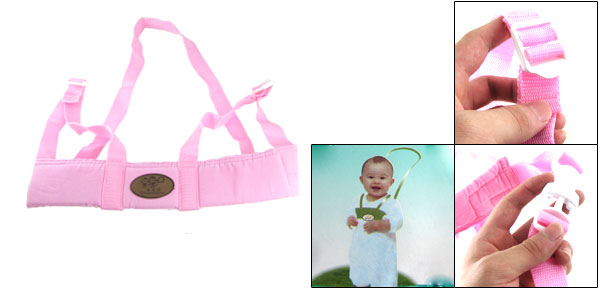 Adjustable Belt Toddler Baby Safety Harness Walking Assistant Strap Pink