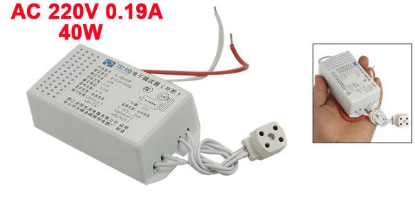 40W Ring Tube Fluorescent Lamp Light Electronic Ballast AC 220V 0.19A