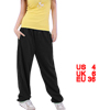 Woman Solid Black Drawstring Waist Hip Hop Casual Pants Trousers ...