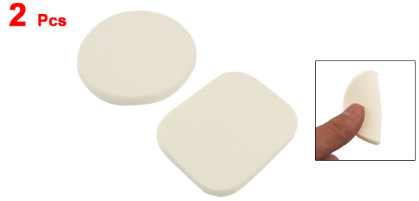 2 Pcs Wet Dry Face Cleaning Rectangle Sponge Powder Puffs for Women