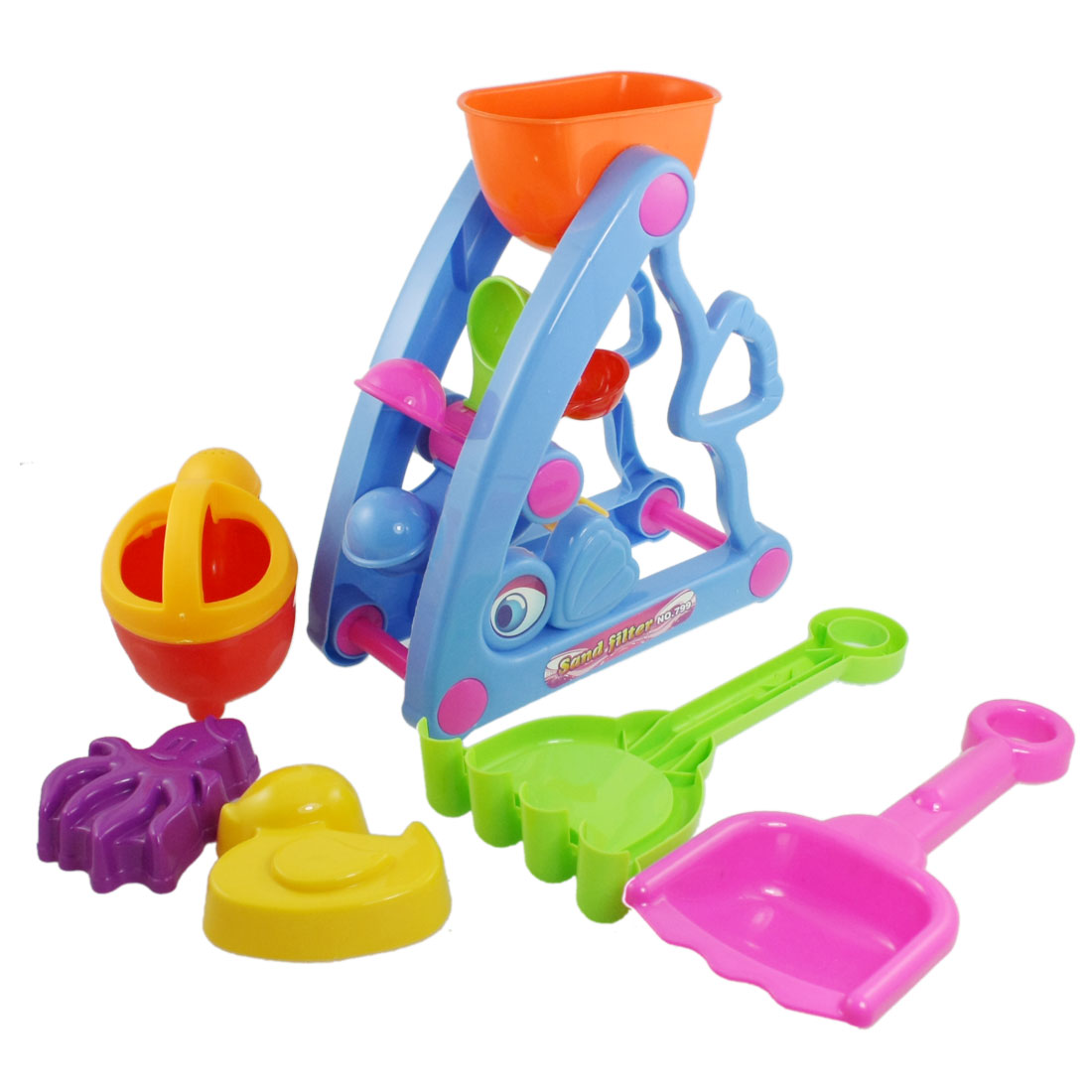 Plastic-Shovel-Duck-Octopus-Shape-Sand-Mold-Beach-Toy-Set-for-Child