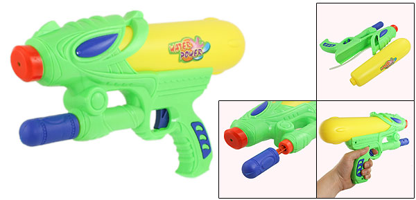 Children Yellow Green Pump Action Air Pressure Fight Game Toy Water Gun 12