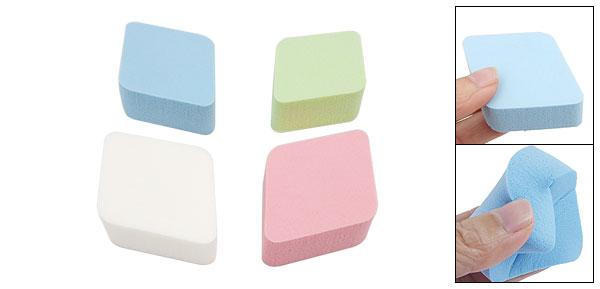 4 Pcs Lady Lozenge Soft Sponge Facial Powder Puffs Colorful