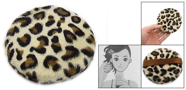Lady Leopard Pattern Facial Beauty Powder Puff Pad