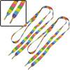 "Pair 44.9"" Long 0.43"" Width Rainbow Stripe Pattern Nylon Flat Sho..."