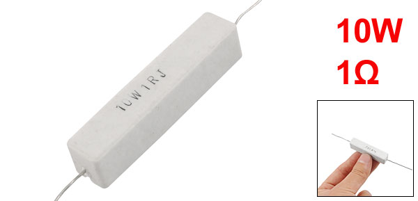 Axial Lead 10W 1ohm Ceramic Cement Power Resistor