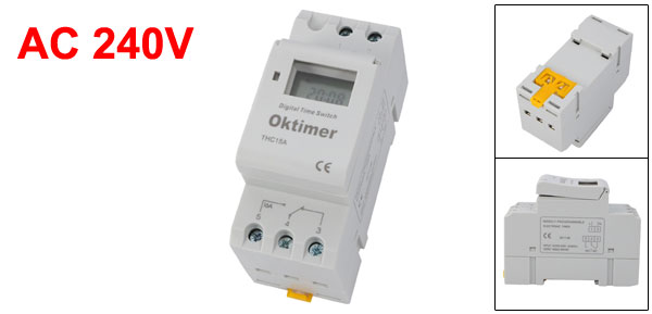 THC15A Digital LCD Power Weekly Programmable Timer Switch AC 240V