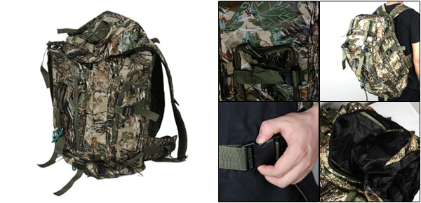 Man Camouflage Pattern Outdoor Water Resistant Backpack Bag