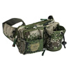 Men Camping Hiking 4 Pockets Army Green Khaki Waist Bag for Phone Watter Bottle