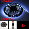 5M 5050 SMD Bulbs Waterproof 300 LEDs Cool White Light Strip
