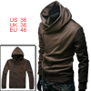 NEW Fashion Mens Hoodie Hoody Jacket Zipper Sweatshirt Coffee Color S