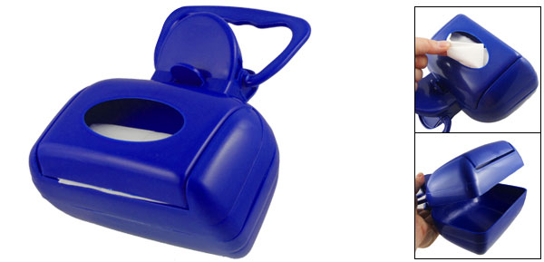 Blue Plastic Spring Action Pickup Pooper Scooper Cleaner Box for Pet