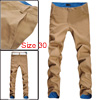 Mens Fashion Casual Slim Fitted Pants Roll up Plaid Trousers Khak...