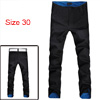 Mens Stylish Slim Fit Casual Pants Trousers Roll-UP Plaid Black W...
