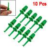 "10 Pcs Green Plastic SMD IC Hook Clip Grabbers 1.6"""