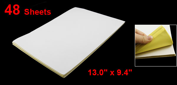 Home White Manual Dust Removal Vinyl Sticky Paper 48 Sheets 9.5