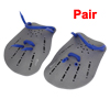Pair Gray Plastic Swimming Hand Paddles Webbed Gloves