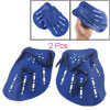 2 Pcs Blue Plastic Swim Swimming Webbed Hand Paddles