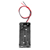 Black Plastic Battery Case Holder Wire 2 x 1.5V AAA