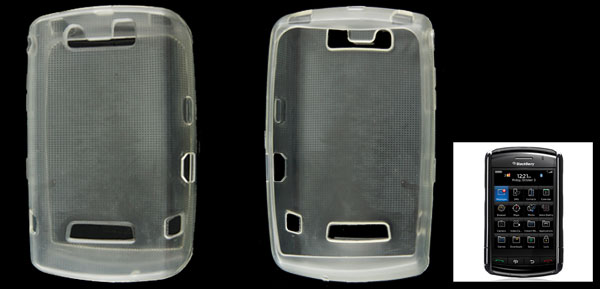 Soft Plastic Clear White Case Cover for Blackberry 9500 9530