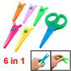 6 in 1 Multicolor Plastic Safety Replacement Blades Paper Cutter ...