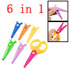 6 in 1 Multicolor Plastic Handcraft Paper Cutter Scissors Set for...
