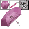 Fuchsia Plastic Cartoon Doll Bottle Holder Sun Folding Umbrella