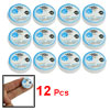 12 Pcs Lady Blue Cover Round Cosmetic Compressed Facial Masks