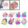 Colorful Butterfly Flower Character Handmade Chinese Paper Cut Bo...
