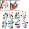 Colorful Crane Character Traditional Art Folk Chinese Paper Cutti...