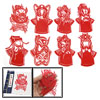 Beijing Opera Mask Character Handicraft Art Chinese Paper Cut Red