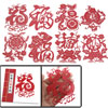Red Happy Fu Character Festival Gift Handicraft Art Chinese Paper...