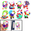 Colorful Santa Claus Handicraft Christmas Gift Chinese Papercut B...