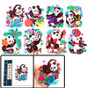 Colorful Panda Character Handmade Art Chinese Papercut Book