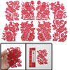Red Auspicious Bird Floral Traditional Folk Handmade Chinese Pape...
