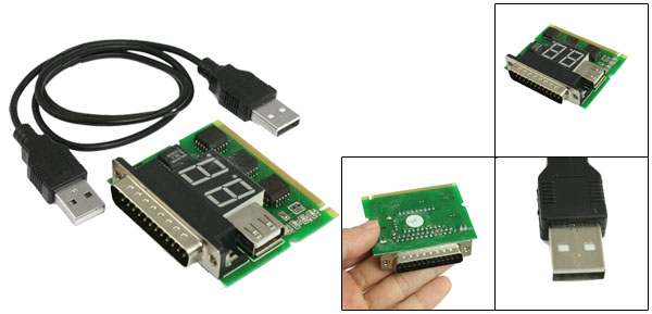 PCI 2-Bit PC Analyzer Motherboard Diagnostic POST Card for Laptop Notebook