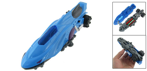 Battery Power Blue Competition Racing Car Model Toy for Children