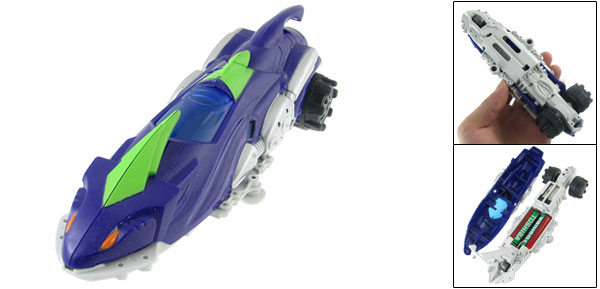 Battery Power Plastic Racing Car Model Toy Purple for Children