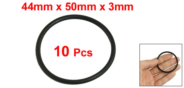 10 Pcs Automobile 50mm x 3mm Hole Sealing NBR O Rings Gaskets Washers