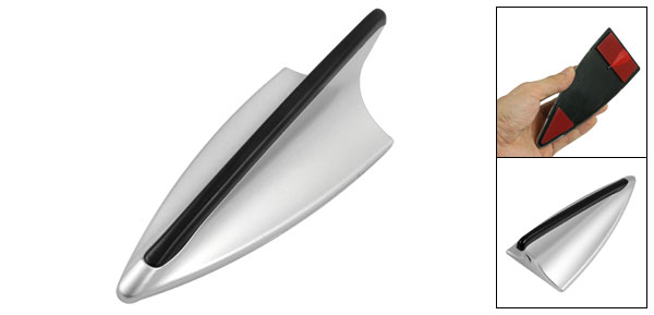 Universal Silver Tone Shark Fin Design Decorative  Car Roof Antenna Dummy Aerial