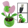 Pink Foam Blade Flower Design Plastic Based USB Mini Fan