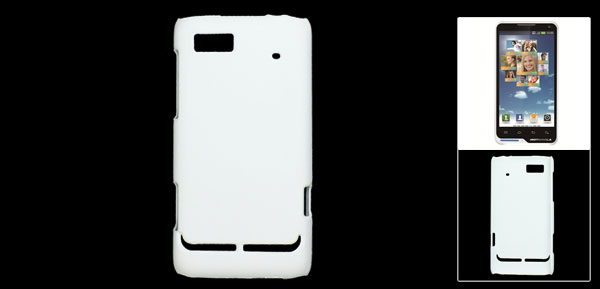 White Rubberized Plastic Back Cover Case for Motorola XT615