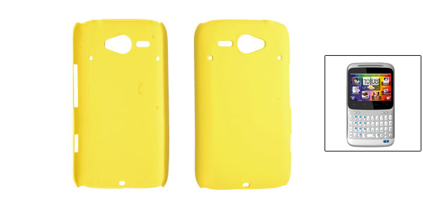 Yellow Rubberized Plastic Back Case for HTC Chacha G16 A810e